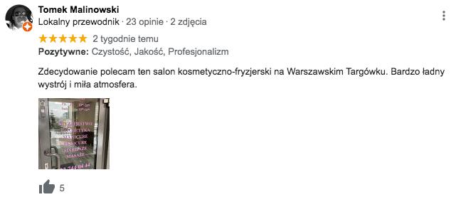 Salon kosmetyczno-fryzjerski Targowek